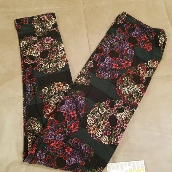 NEW 2019 In Bag LuLaRoe S//m Pink Roses Flowers Houndstooth Black White Checker